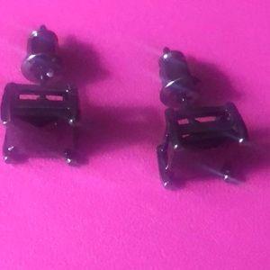 2 carat black diamond earrings